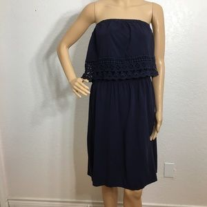 Maurices Navy Strapless Dress